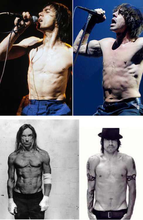 A look into the future? Iggy Pop (The Stooges) vs. Anthony Kiedis (RHCP) (Submitted by Tumblr tantumergo)