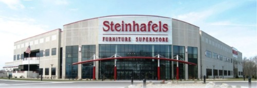 Steinhafels to open in Illinois Steinhafels furniture and mattress superstore planning to open in Vernon Hills, Illinois next year. If approved, it will be the eighth store for the Waukesha-based chain, and their first store outside of Wisconsin. You're welcome, Illinois.