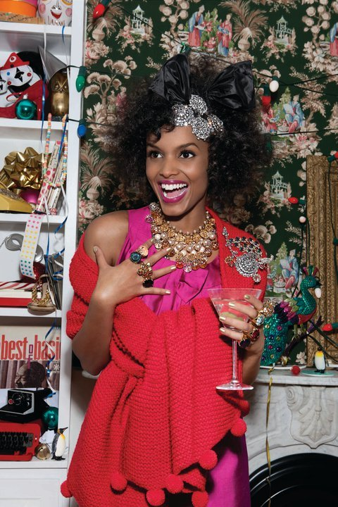 "textbook:  The kate spade new york holiday campaign ""mix and mingle"" is pretty on point. Awesome. Love it. Check it all out on their facebook page.  Loving how snap-shotty this looks. Very cute. Very old school Kate."