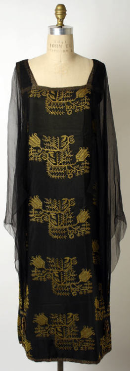 Liberty & Co. evening dress ca. 1923-1927 via The Costume Institute of The Metropolitan Museum of Art