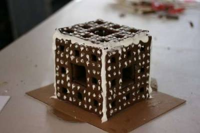 gingerbread Menger sponge via Instructables