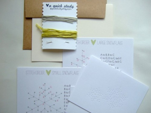 sweepmeup:  DIY snowflake craft kit