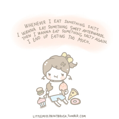littlemisspaintbrush:  i think i have an eating disorder lol. (redrawn)
