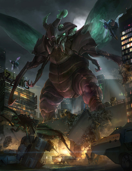 gza20090909:  Monsterpocalypse: Swarm by `ukitakumuki on deviantART