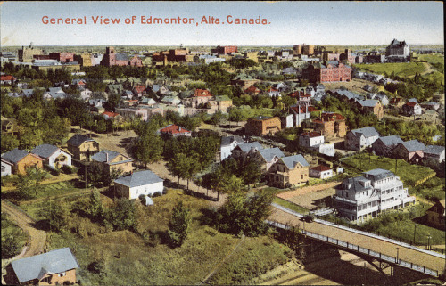 Bird's eye view of Edmonton, Alberta, n.d.