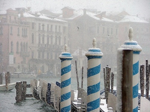 thatgirlinpearls:  Venice in the snow.