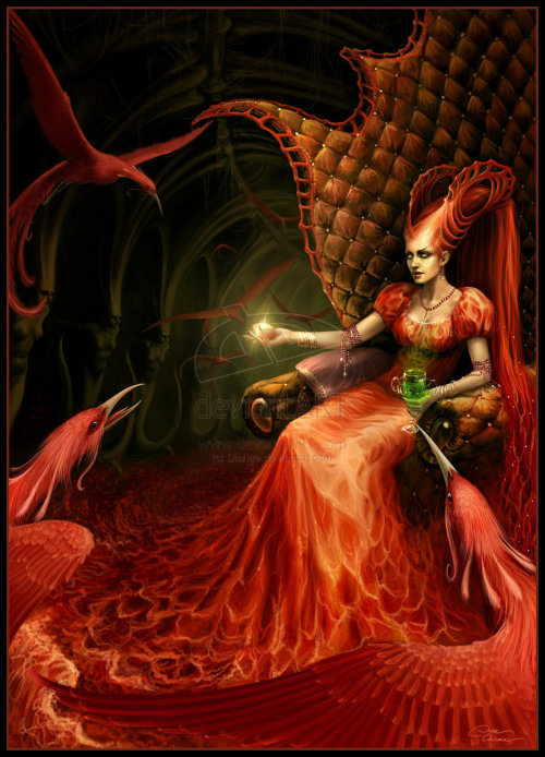 Red Queen by `Dianae Today, deviantART's Tumblr is only featuring red deviations in support of World AIDS Day.