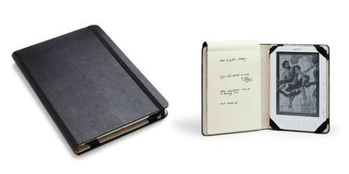 Moleskin cover for Kindle DX with note pad. Preppy!