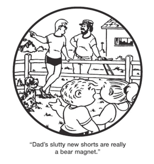 "iheartchaos:  Sunday morning comics: ""Daddy's new shorts"""