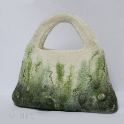 Felted Bag OOAK Handmade to Order by vart on Etsy