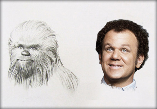 Young Chewbacca versus John C. Reilly more lookalikes… (Submitted by Tumblr pacalin)