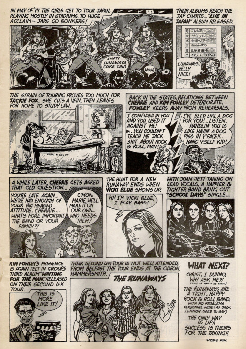 Runaways comic from Zig Zag #80, January 1978. Part 2.