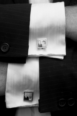 Custom designed cufflinks.