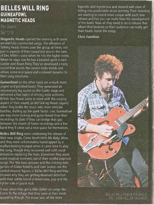 Live review from the Drum Media, Sydney 30th November 2010