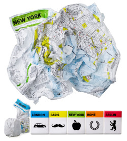 Crumpled City Map | via Remnants