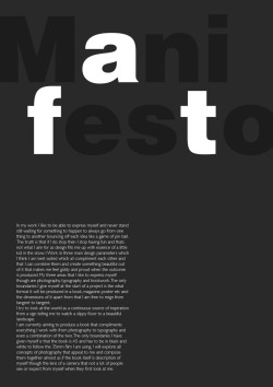manifesto ive created for a uni project thoughts ideas?