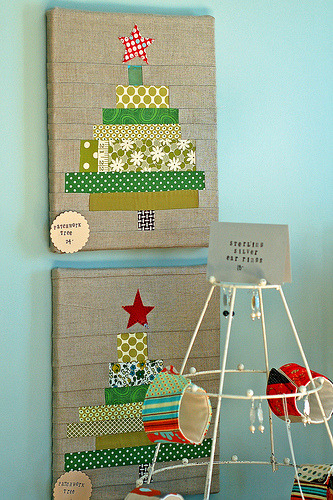 love it! scrapstudio:  So so cute! :) vintagemodernquilts:  One of my favorites - patchwork trees By Providence Handmade