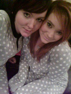 Charlotte & Me in our matching onesie, we are so cool!
