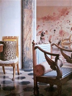 interiordecline:  Artist Cy Twombly's apartment in Rome, 1966