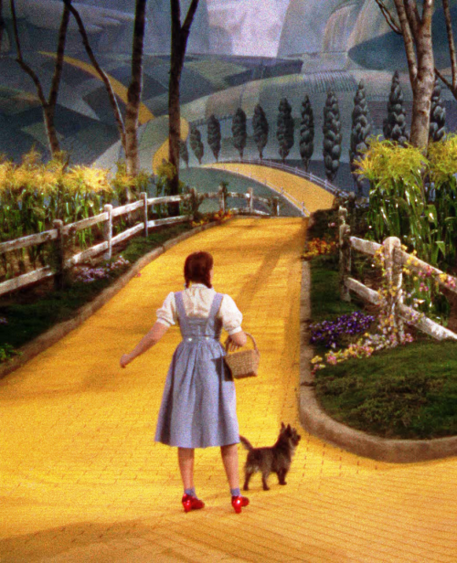 "Judy Garland in The Wizard of Oz (1939, dir. Victor Fleming) Q. The spectre of The Wizard of Oz has haunted aspects of your previous films [e.g. Blue Velvet, Wild at Heart]. How do you explain the appearance of The Wizard of Oz in a number of contemporary films, from Alice Doesn't Live Here Anymore to Zardoz? David Lynch: The Wizard of Oz is a film with very great power, and I suppose that Martin Scorsese and John Boorman saw it, like me, during their childhoods and that it made a very strong impression on them. And it's to be expected that it has stayed with us for the past several years and that we find its echoes in our films for such a long time after. The Wizard of Oz is like a dream and it has immense emotional power. Q. What exactly is it that you love about The Wizard of Oz? Lynch: There's a certain amount of fear in that picture, as well as things to dream about. So it seems truthful in some way. Q. For many it must have been something to do with the comforting conclusion that ""There's No Place like Home"". Home is seen as the ultimate refuge from all worry and fear -exactly the reverse of the homes in your movies! Lynch: [Laughs] Right. But the family in The Wizard of Oz weren't Dorothy's real parents. So it's all very strange. It makes you crazy! [Laughs] -excerpted from David Lynch: Interviews"