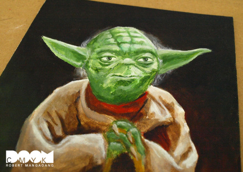 I did some adjustments to my Yoda Painting. This is the final. Available at my Etsy: http://www.etsy.com/shop/doomcmyk