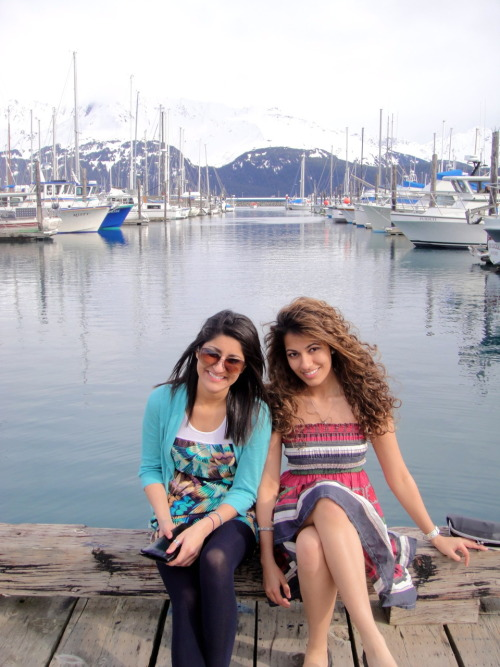 Alaskan Muslim sisters Ayesha Malik and Faryal Malik, who may or may not  run for public office one day, took this photo as proof of their  foreign policy qualifications—for they too can see Russia from their dock.