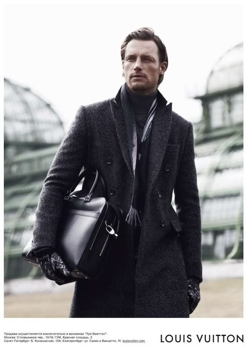 Louis Vuitton menswear ad campaign (Fall/Winter 2010) featuring model Gabriel Aubry. Although we are upset we missed celebrating The Beard during No Shave November, we expect winter to bring forth dense, masculine thickets of facial hair. —written by Mariana & Saba
