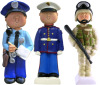 "MILITARY ENFORCEMENT ORNAMENTS FINELY DETAILED MILITARY & LE ORNAMENTS. ALL FIGURES HANG BY GOLD STRING WHICH IS INCLUDED. ARMED SERVICE FIGURES CAN ALSO STAND ALONE. PERSONALIZE WITH PILOT FINE TIP PENS OR SHARPIE POSTER PAINT PENS. MADE OF POLYRESIN. MEASUREMENTS OF FIGURES:  Marine: 4.25"" tall x 1.50"" wide, weight  1.58 oz. 1102 ROTHCO MILITARY ENFORCEMENT ORNAMENTS."