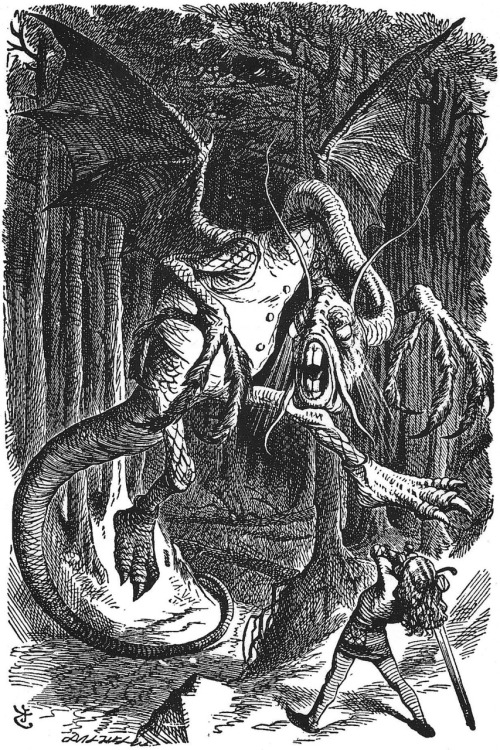"John Tenniel, 1871, Beware the Jabborwock, ""Through the Looking Glass, and What Alice Found There"""