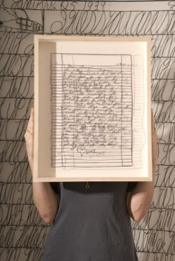 teachingliteracy:  Incredible papercuts of handwritten letters by Oakland artist Annie Vought.