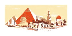 "Egypt - 24""x12""- 4-color screenprint- Edition size of 64  Available as a limited edition screenprint in my online store."