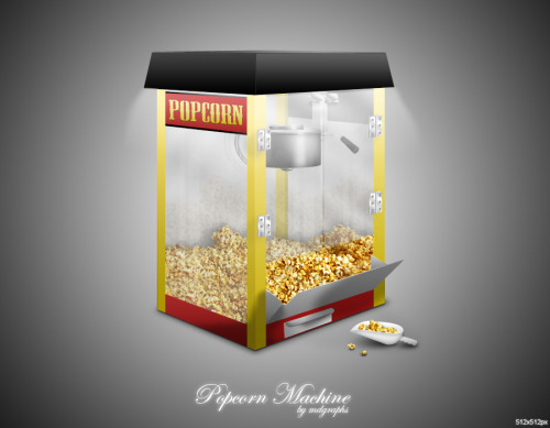 Popcorn Machine icon by =MDGraphs