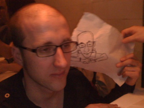 Kieron Gillen looking at Kieron Gillen.