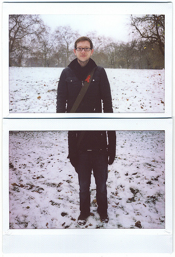 New Instax Camera Earlier this week after a few failed attempts I managed to buy an old Fuji Instax 200 camera on eBay for only £10. Well it arrived this morning so I had to go try it out in the London snow.  This thing is massive, really its a ridiculous size, but I guess that adds to the fun of it.  But overall I'm really happy with the results.  Of the six shots I took, I was happy with four, one was out of focus (which I still sort of like) and another was just too dark.  But as long as I can get the focus right and get the lighting settings spot on then I think I could get some great shots.  Can't wait to try out a few more this weekend on Brick Lane.