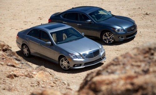 The 2010 Mercedes-Benz E550 is a great everyday automobile, but it doesn't offer enough dynamic character of the 2011 Infiniti M56 when the going gets twisty.