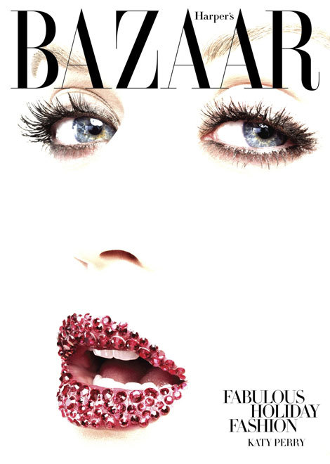 Katy Perry looking so edgy I couldn't even tell it was her.  Harper's Bazaar December 2010