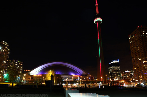 The city of Toronto's landmark: CN Tower. Taken from Harbourfront at downtown. flickr.com/adrian-alconcel