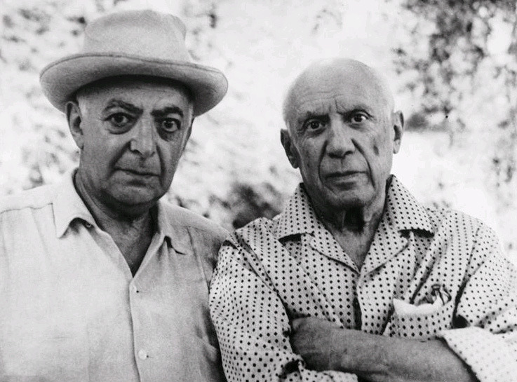 chagalov:  Brassaï and Picasso, Mougins July 1966 -by Gilberte Brassaï via rmn