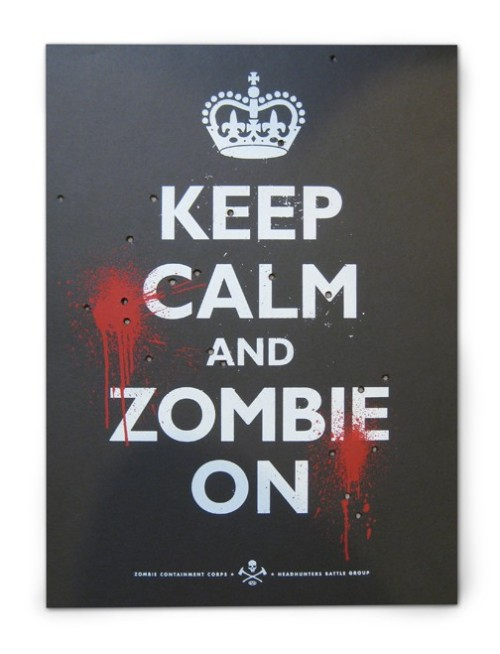 iloveetsy:  Keep Calm and Zombie On Poster Black by LovelyMPLS on Etsy