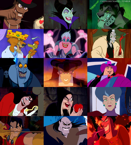 The Disney Villains.