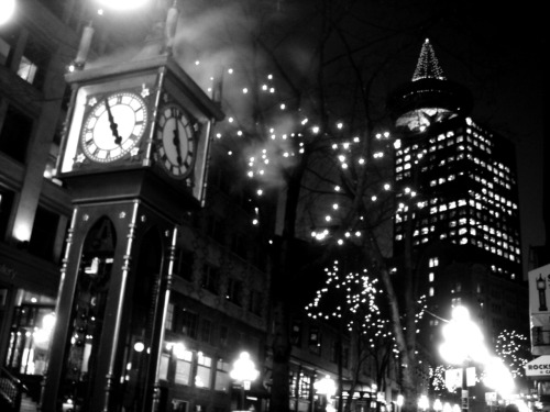 Gastown nights, Vancouver    I need to go for a solo trip downtown…. Embrace the street lights && document.