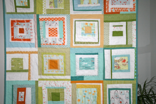 gluestickgirl:  FITF: baby munki quilt | Film in the Fridge