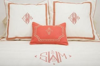 I love orange.  And monograms.  Though, tragically, I cannot ever have anything monogrammed  - my initials are V.D.D..  Sigh.