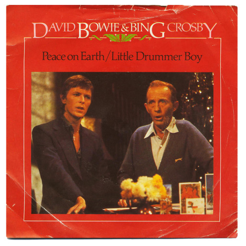 herofetish:  80srecordparty:  Peace On Earth/Little Drummer Boy b/w Fantastic VoyageDavid Bowie & Bing Crosby, RCA Records/USA (1982)      One of the very, VERY FEW x-mas songs I'll listen to.