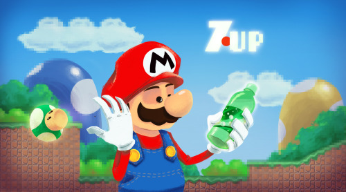 Why settle for a measly 1-Up mushroom when you can slam a can of 7UP? Andry Rajoelina is onto something in this brilliant piece of artwork. Related Rampage: Steamboat Spidey What's better than 1-Up? by Andry Rajoelina (deviantART) (Facebook)