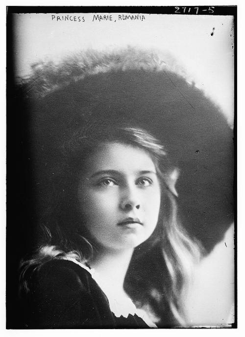 Marie, (then) Princess of Romania and later Queen of Yugoslavia (1900-1961), c. 1910.