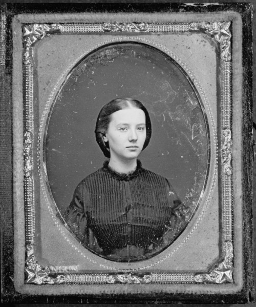 Daguerreotype of Augusta Currie Bradhurst Field at the age of 16 by Rufus Anson, 1862.