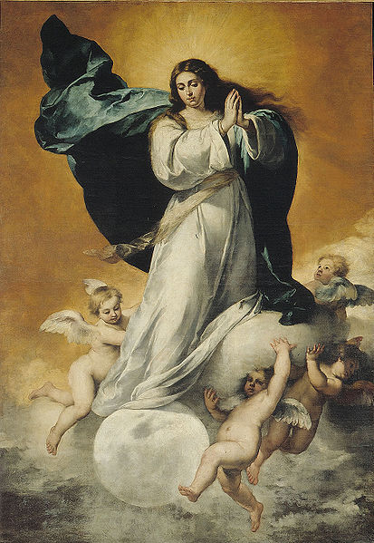 Inmaculada Concepción (La Colosal), oil on canvas (~1650) Bartolomé Murillo