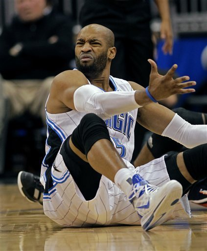hotwingsandbeer:  Vince Carter's homeless beard now has substance. He's started begging for change while on the court.