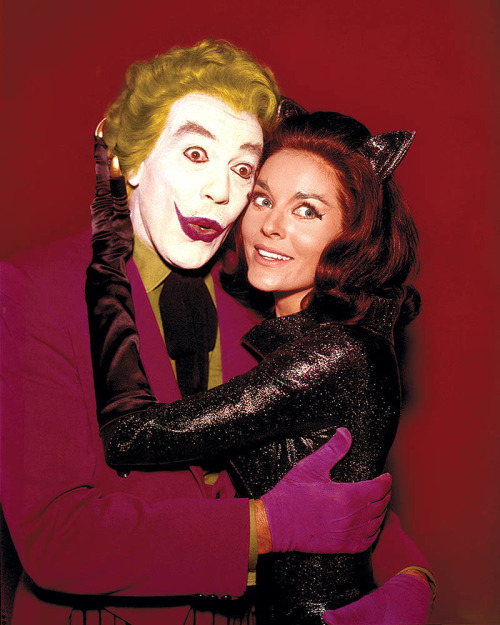 theswingingsixties:  The Joker and Catwoman, BFF.